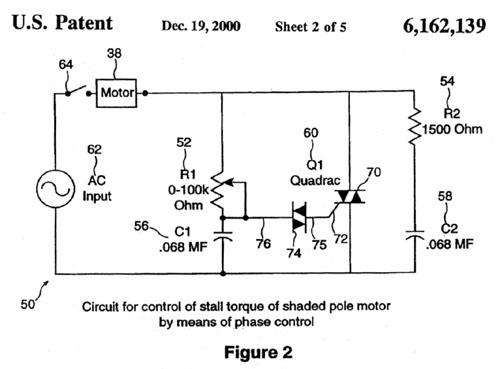 Hawk electronic tension head for Triac ac motor speed control